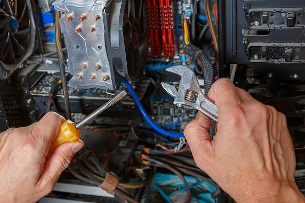 Diagnóstico de componentes de um computador antigo