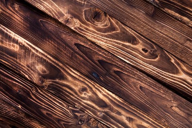 Diagonal madeira escura, madeira rústica