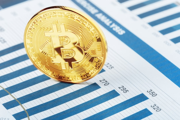 Diagrama de moeda criptografada bitcoin