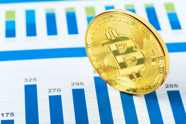 Diagrama de moeda criptográfica bitcoin