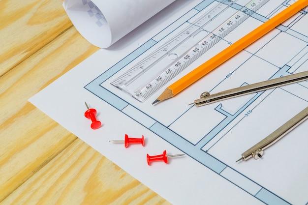 Diagramas de casas e acessórios de desenho