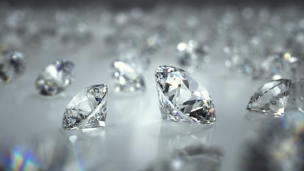 Diamantes em um fundo
