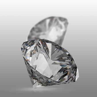 Diamantes isolados no branco