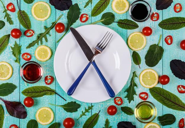 Dieta alimentar com legumes vista superior