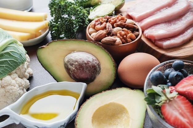 Dieta cetogênica, baixa carb, alta gordura, alimentação saudável