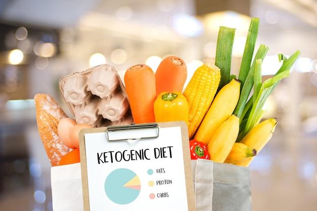 Dieta cetogênica vegetais de mercearia orgânica carboidratos saudáveis