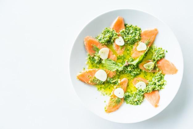 Dieta doce comer prato de salmão