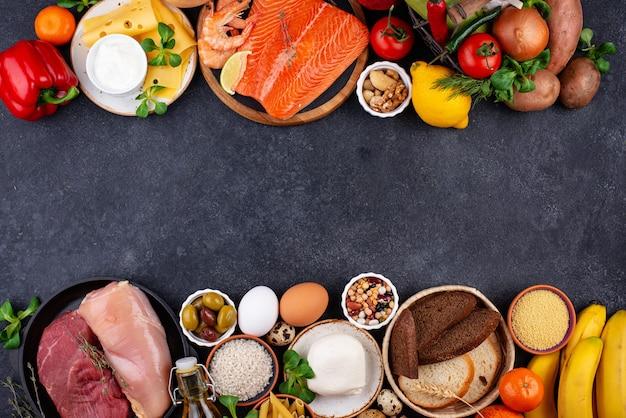 Dieta mediterrânea comida saudável e balanceada