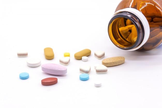 Diferença comprimidos comprimidos heap mix isolado no branco