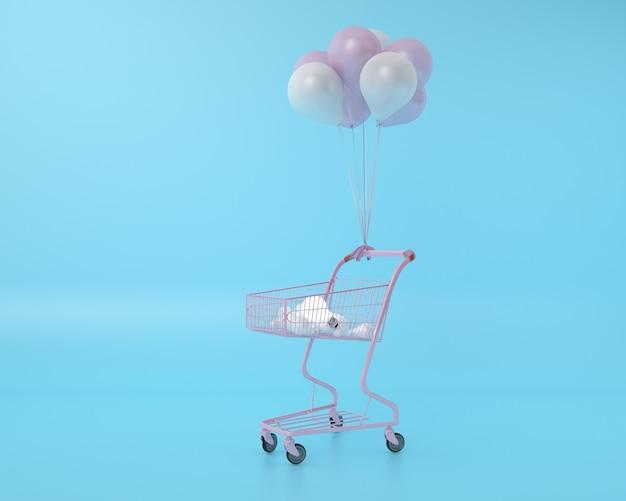 Diferença lâmpada no carrinho de compras com balão