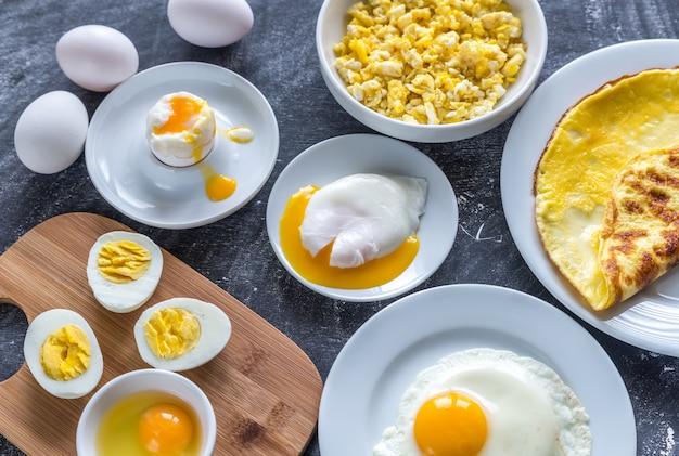 Diferentes maneiras de cozinhar ovos