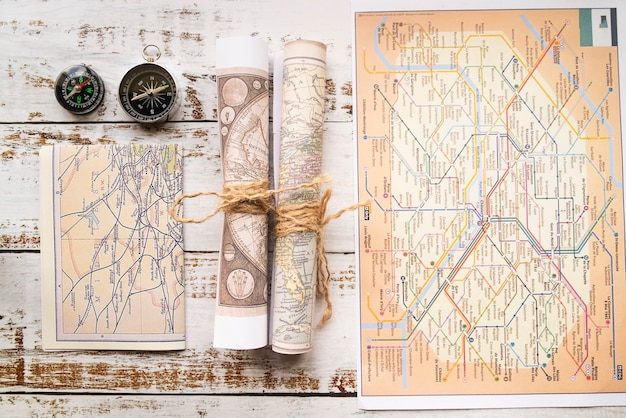 Diferentes tipos de mapas turísticos