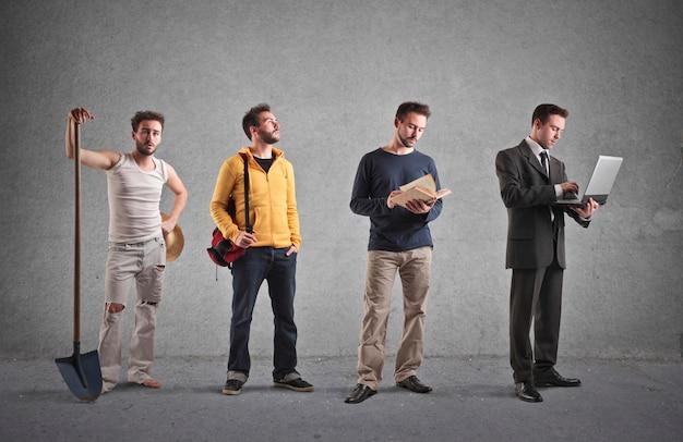 Diferentes tipos de profissões