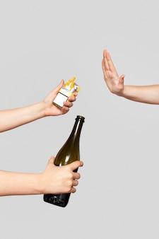 Diga não ao fumo e ao álcool