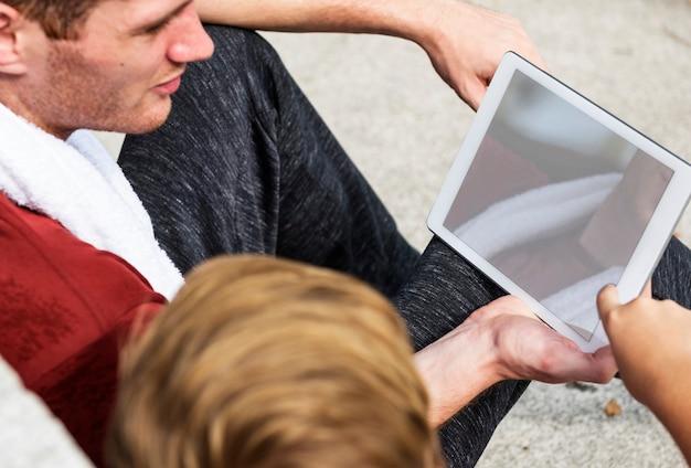 Digital tablet ensino aprendizagem educação