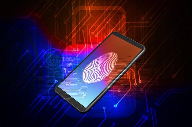 Digitalizando impressão digital para identificar pessoal no smartphone