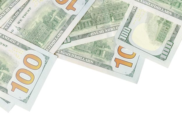 Dinheiro americano em fundo branco