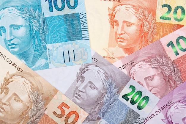 Dinheiro brasileiro um fundo de negócios