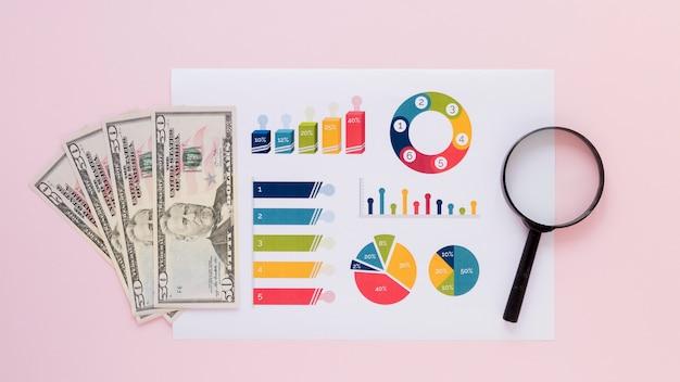 Dinheiro com gráficos