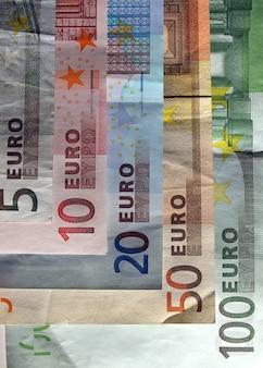 Dinheiro das notas de euro (eur), moeda da união europeia