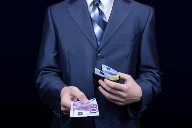 Dinheiro de bolsa de homem