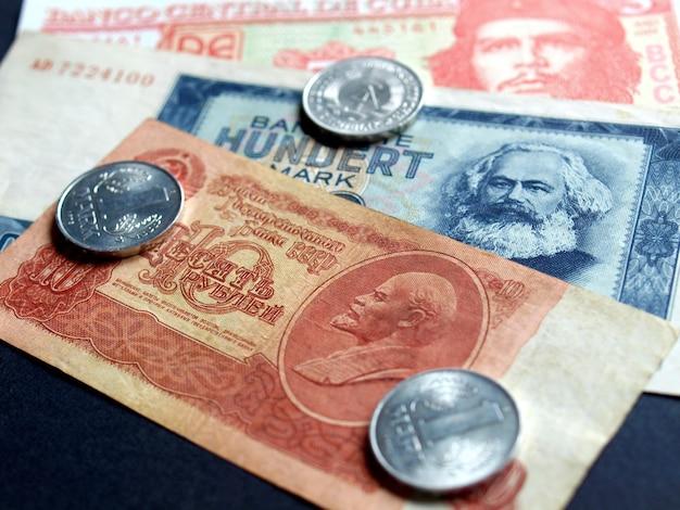 Dinheiro de países comunistas