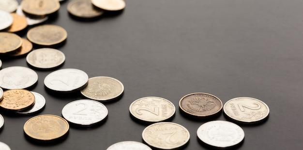 Dinheiro. dinheiro próximo. dinheiro russo - rublos