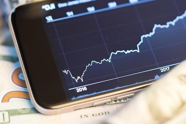 Dinheiro e gráfico
