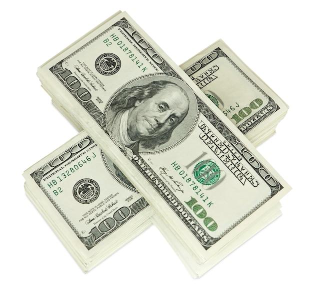 Dinheiro em branco isolado
