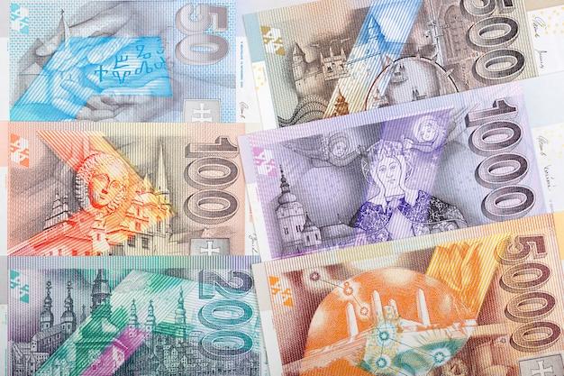 Dinheiro eslovaco - koruna um negócio