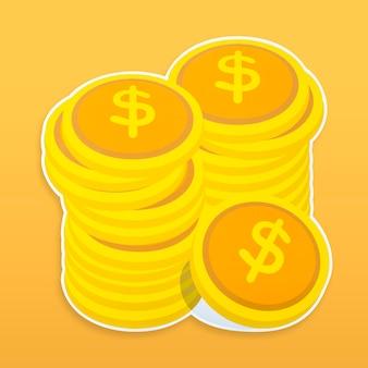 Dinheiro, ícone, isolado