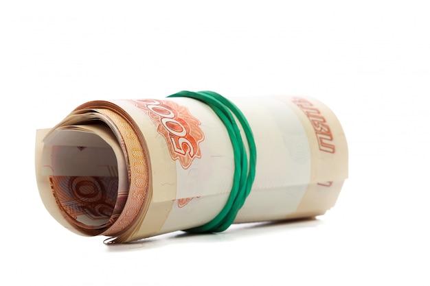 Dinheiro isolado no branco