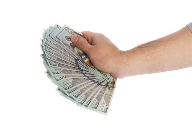 Dinheiro nas mãos