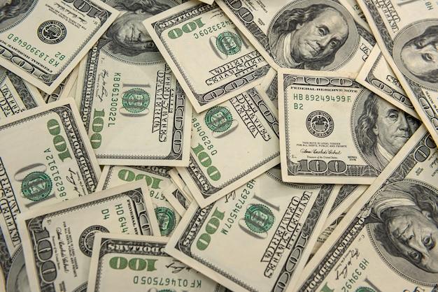 Dinheiro nos dólares, conceito financeiro