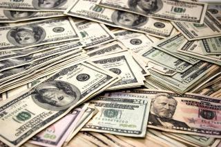 Dinheiro, pilha, financeira
