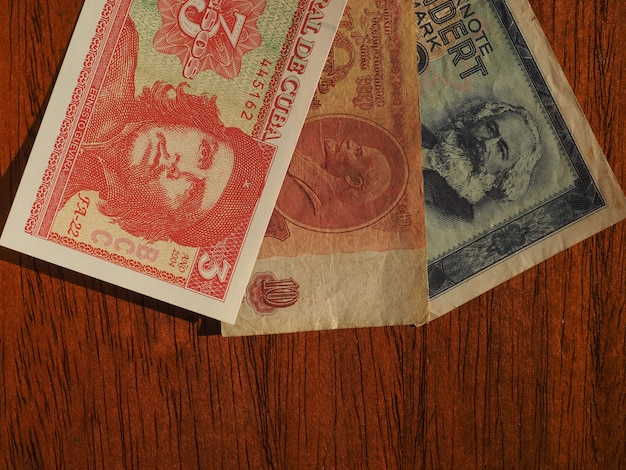 Dinheiro vintage de países comunistas