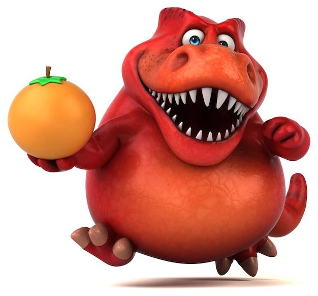 Dinossauro divertido - ilustração 3d