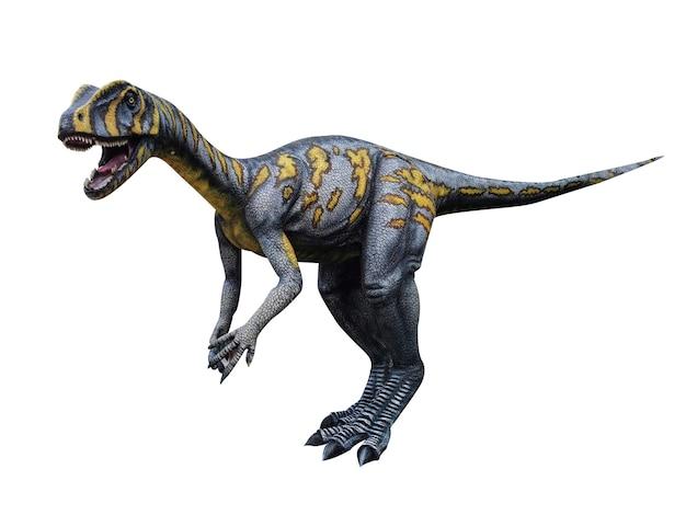 Dinossauro em fundo branco jurássico