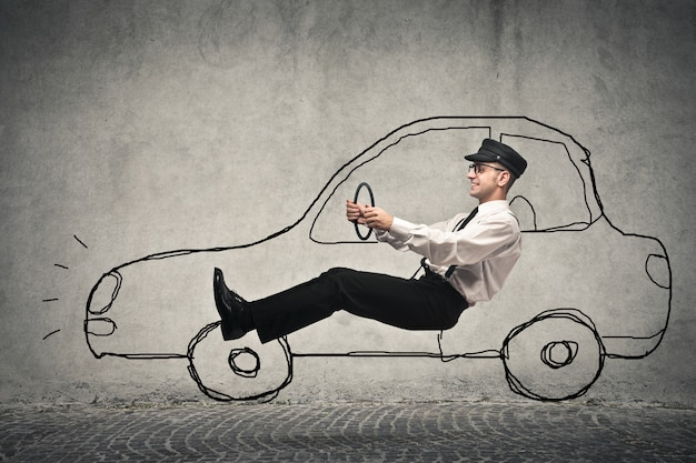 Dirigindo um carro fictício