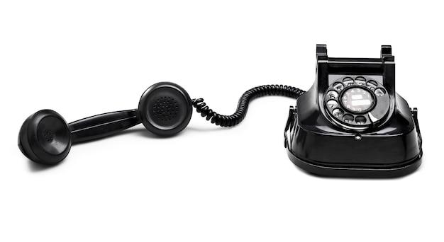 Discagem de telefone antigo. (caminho de recorte)