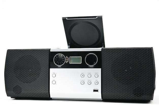 Disco compacto e dispositivo de rádio para ouvir música e som. cd boombox