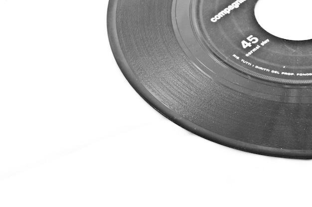 Disco de vinil com etiqueta preta - italiano, sem marcas registradas