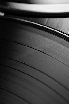 Disco de vinil com variedade de textura retrô