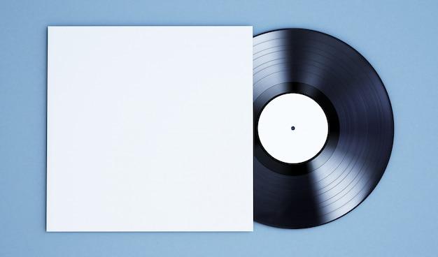 Disco de vinil em branco