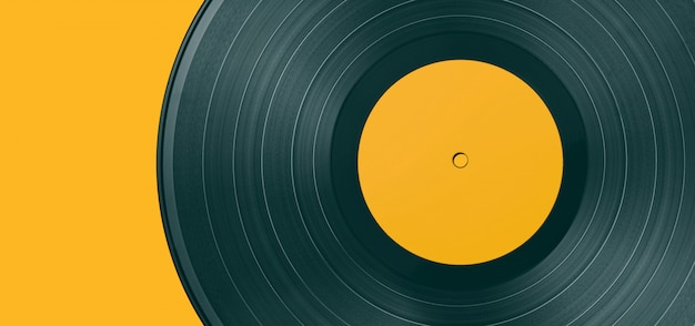 Disco de vinil em um fundo colorido
