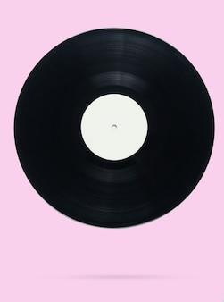 Disco de vinil estilo retro em rosa pastel