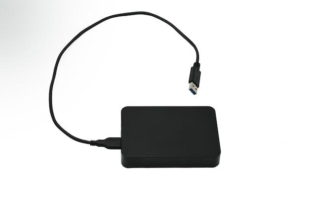 Disco rígido externo para armazenar e transferir vários arquivos em um branco