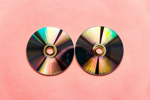 Discos compactos refletidos