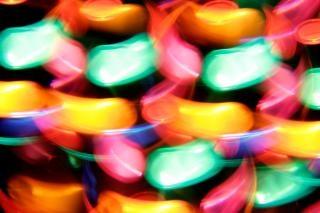 Discoteca luzes girando lâmpada abstratas