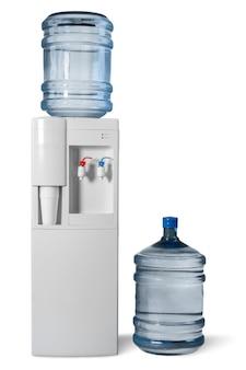 Dispensador de água com duas garrafas de água grandes - isolado